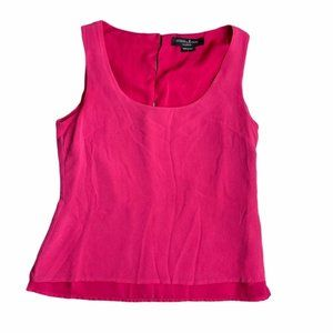 GUESS By Marciano Pink 100% Silk Tank Size Small